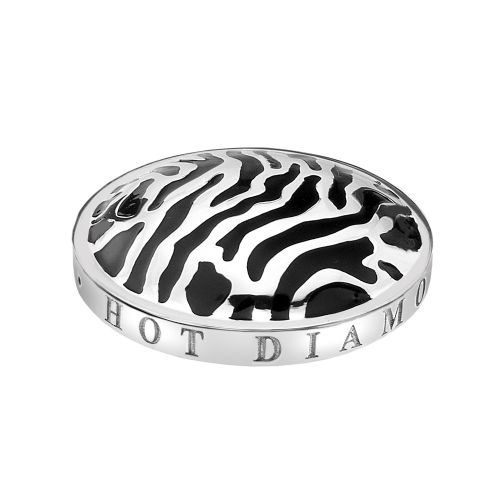 Hot Diamonds Emozioni Silver Plated Stainless Steel Zebra Coin - Small 25mm EC088